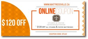 $120 OFF ON LUXURIOUS STEARNS & FOSTER MATTRESSES