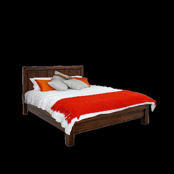 Prague Bourbon Solid Wood Bed