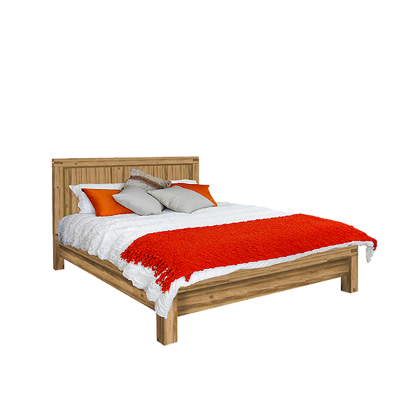 Prague Truffle Solid Wood Bed