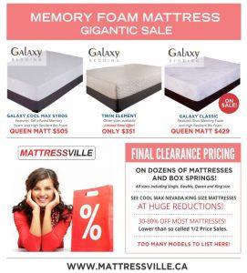 Galaxy Memory Foam Mattress Gigantic Sale
