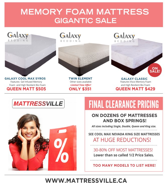 Galaxy-Memory-Foam-Mattress-Gigantic-Sale-Flyer