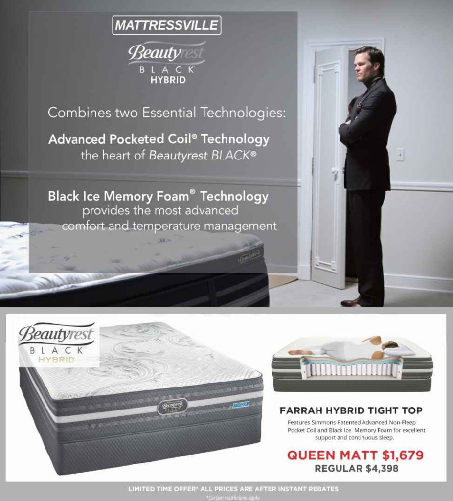 Beautyrest Black Hybrid Sale Flyer