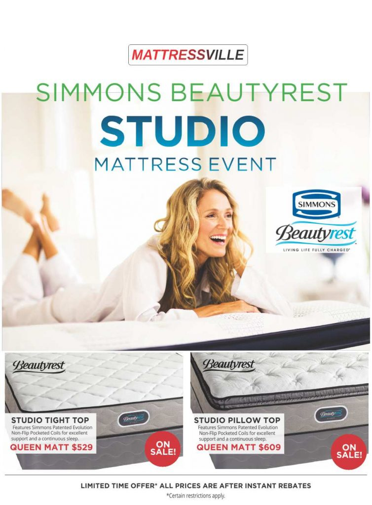 Simmons Studio Mattress Clearance Sale Flyer